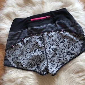 Workout gym floral running shorts 🏋️♂️⛹️♀️🧘♀️